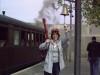 "Lucille insiste - \""¡¡viajeros al tren!!\""/Lucille insisterar -"